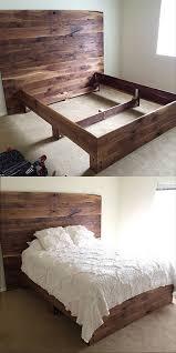 My Husband made this bed for me :))) solid black walnut! https. Diy Rustic  HeadboardBurlap BedroomDiy ...