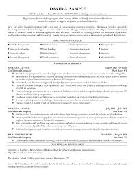 Financial Representative Sample Resume Resume Financial Representative Resume 2