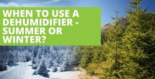 a dehumidifier winter or summer