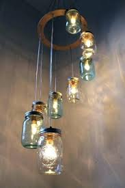 jar chandelier homemade mason jar chandelier see here the result of your light fixtures mason jar jar chandelier via mason jar chandelier diy