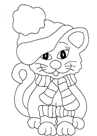 scarf coloring page a cat looks beautiful with winter coat hat and scarf coloring pages scarf coloring pages