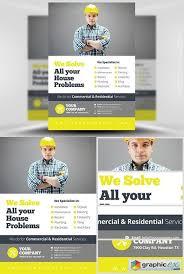 free handyman flyer template handyman flyer template v2 free download vector stock