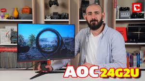23.8 aoc 24g2u fullhd ips 144hz gamer led геймърски монитор (24g2u/bk). Aoc 24g2u Monitor Inceleme Youtube
