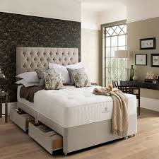 pocket spring bed company pemberley divan bed set with 4 drawers in 3 sizes