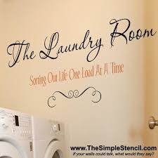 wall art decals for laundry room