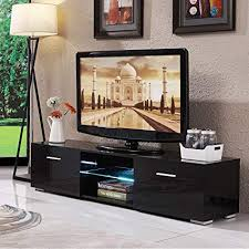 tv storage cabinet. Exellent Storage Mecor LED TV Stand 63u0026quot High Gloss Shelves Console Storage Cabinet  With 2 Inside Tv E