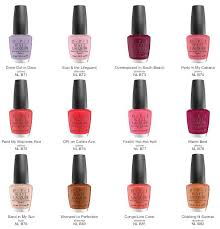 Opi Color Chart Opi South Beach Collection Color Chart Opi Nail Colors
