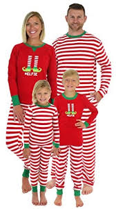 Sleepyheads Christmas Family Matching Red Striped Elf Pajama PJ Sets 12 best matching family pajama sets for or Hanukkah 2018