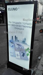 Led Light Box Display Stand 100x100CM Restaurant Outdoor Stand Double Sided LED Display Board 16