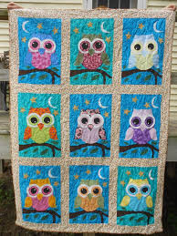26 best Owl Quilt Patterns images on Pinterest | Owl quilt pattern ... & Appliqued Owl Quilt by craftyandquilted on Etsy, $175.00 Adamdwight.com
