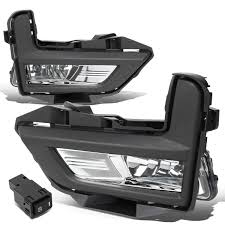 Pair Chrome Housing Front Driving Fog Light Lamps W Bezel Switch For 17 18 Rogue