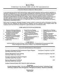 Emergency Management Resume Templates