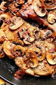 garlic er mushroom pork chops
