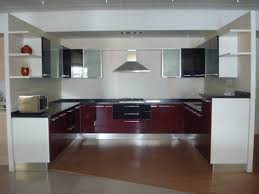 Red Gloss Kitchen Cabinets Simple Modular Kitchen Ideas With White Red Gloss Colors Kitchen