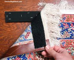 to hang silk rugs flat against the wall velcro