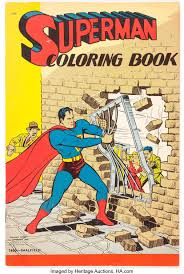42 superman printable coloring pages for kids. Superman Coloring Book 1490 Saalfield 1940 Condition Vg Lot 11594 Heritage Auctions