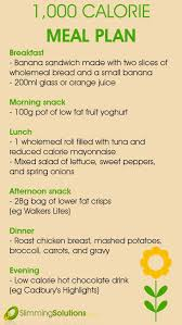 Low Calorie Diet Chart 1000 Calorie Diet Plan Diet Plans Weight Loss Natural