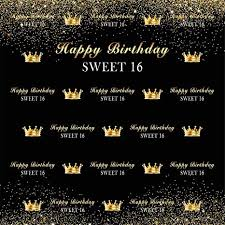 Amazon Com 16th Birthday Background For Photography 5x7ft Gold