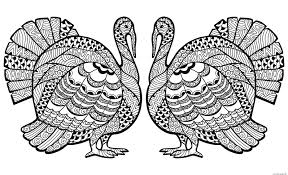 Small Picture Thanksgiving Adults Difficult Coloring Pages Printable