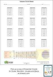 Charter Outage Number Blank Chord Chart Sheets Ukulele Boxes