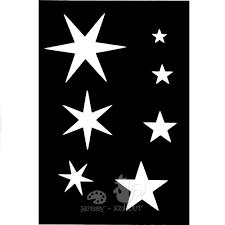 šablony Malé Samolepící Hvězdy Hobbykohoutcz
