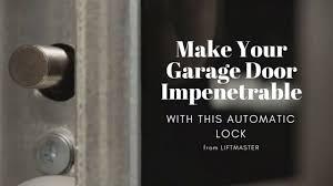 Electric garage door lock Wireless Automatic Garage Door Lock Can Be Smartphone Controlled Texas Overhead Door Make Your Garage Impenetrable With This Automatic Garage Door Lock