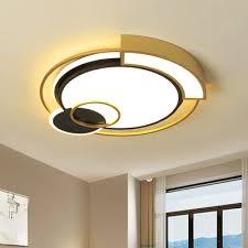 metallic drum flush mount light fixture