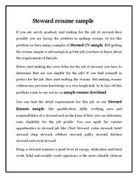 Steward Cv Sample For Hotel Stewerd Job By Sampleresumedownload - Issuu