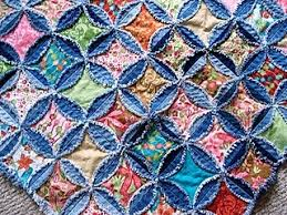 Circle Quilt Patterns Interesting Denim Circle Quiltthe Instructions Are Under The Denim Pillow
