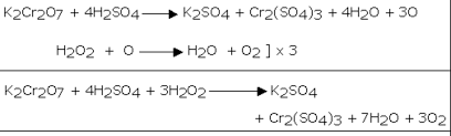 reaction with potassium dichromate 5 hydrogen peroxide