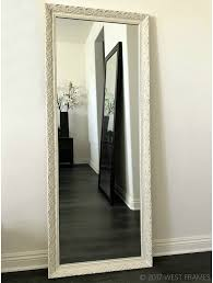 floor mirror. Contemporary Mirror Bella Ornate Embossed Antique White Wood Framed Floor Mirror With