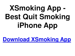 Best Quit Smoking App Xsmoking App Best Quit Smoking Iphone App