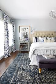 inspired by blue patterned statement rugs