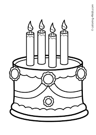 Small Picture Cake Birthday Party Coloring Pages for 4 years Coloring pages