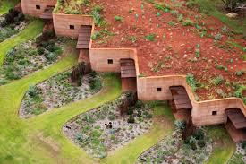 Earth Homes Designs 12 Stunning Zigzag Homes Hide Behind Australias Longest Rammed