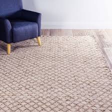kaya diamond board chenille woven natural cream rug 240 x 300 cm