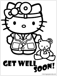Official instagram for hello kitty 🎀 you can never have too many friends! Hospital Get Well Soon Of Hello Kitty Coloring Pages Cartoons Coloring Pages Free Printable Coloring Pages Online
