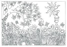 Breathtaking Scene Coloring Pages Outstanding Nature Coloring Pages