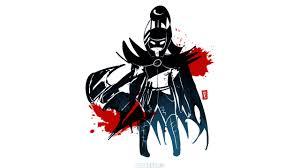 download wallpaper 2560x1440 phantom assassin dota 2 simple art