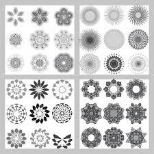 геометрические орнаменты простые геометрические орнаменты набор