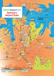 sydney city map  airport link