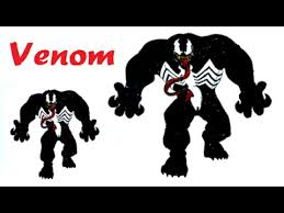 Small Picture Venom Coloring Pages and Learn Colors for Kids YouTube