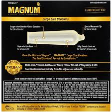 magnum xl size chart trojan magnum large size lubricated condoms 36 count