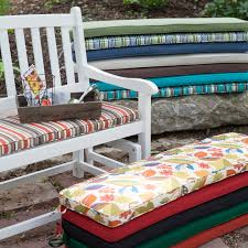 outdoor fabric bench cushions designs