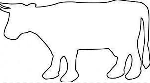 Cow Template Dairy Cattle Template Paper Clip Art Cow Outline Png