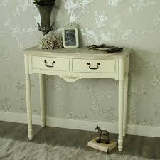 cream console table. Antoinette Range - Cream 2 Drawer Console Table 0