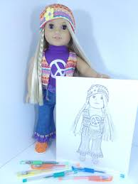 Julie Albright Doll Coloring Pages American Girl Doll Etsy