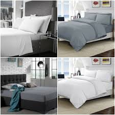 details about 500 thread count 100 egyptian cotton plain luxury duvet covers fitted sheets