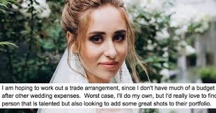broke bride tries to get makeup artist to work for free gets ed instead someecards lifestyle
