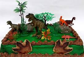 Amazoncom Prehistoric T Rex Dinosaur 12 Piece Birthday Cake Topper